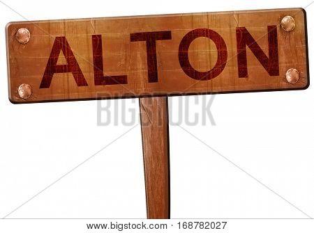 alton road sign, 3D rendering