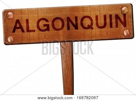 algonquin road sign, 3D rendering