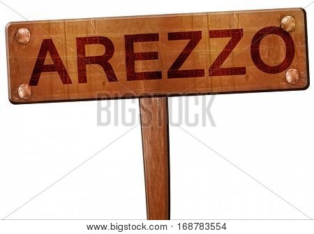 Arezzo road sign, 3D rendering