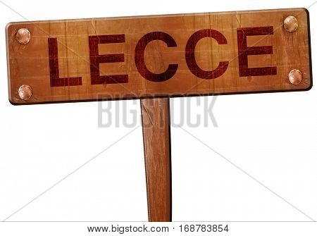 Lecce road sign, 3D rendering