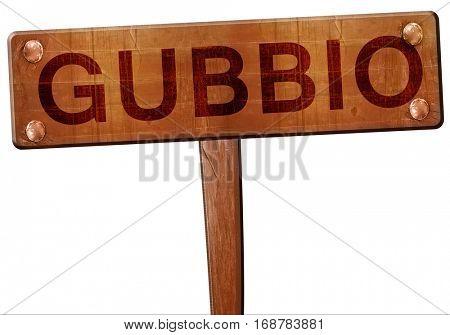 Gubbio road sign, 3D rendering