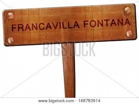 Francavilla fontana road sign, 3D rendering