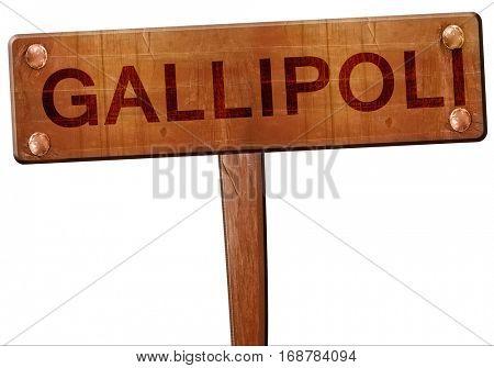 Gallipoli road sign, 3D rendering