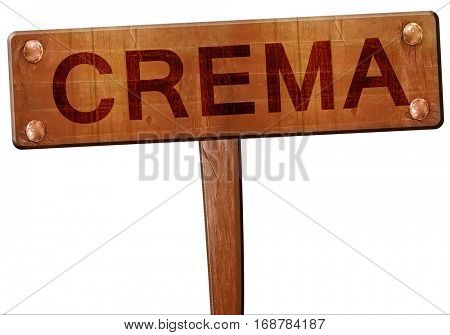 Crema road sign, 3D rendering