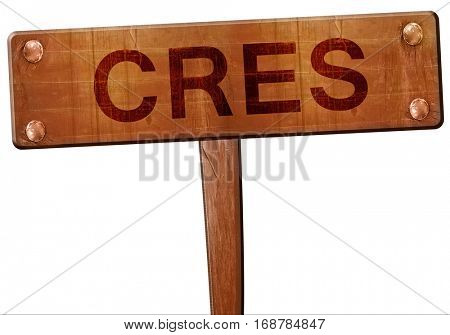 Cres road sign, 3D rendering