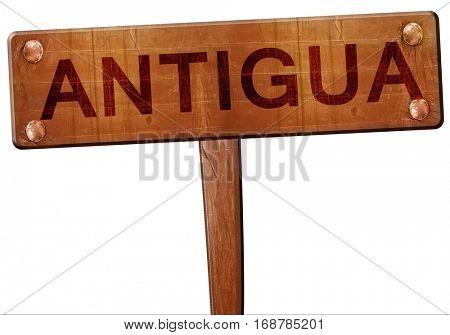 Antigua road sign, 3D rendering