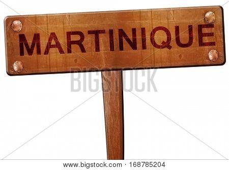 Martinique road sign, 3D rendering
