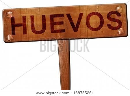 Huevos road sign, 3D rendering