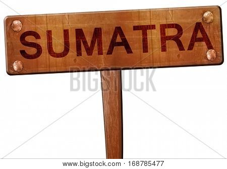 Sumatra road sign, 3D rendering