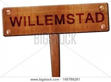 Willemstad road sign, 3D rendering