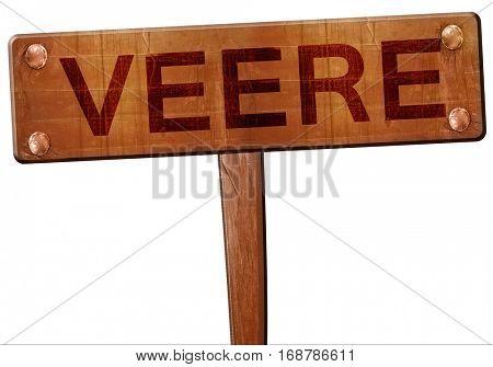 Veere road sign, 3D rendering
