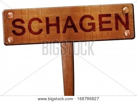Schagen road sign, 3D rendering