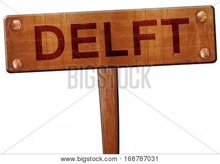 Delft road sign, 3D rendering