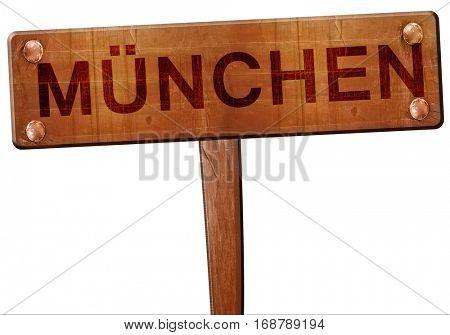 Munchen road sign, 3D rendering