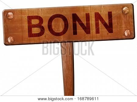 Bonn road sign, 3D rendering