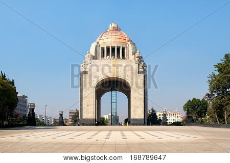 The Monument to the Revolution or Arch of the Revolution in Mexico City