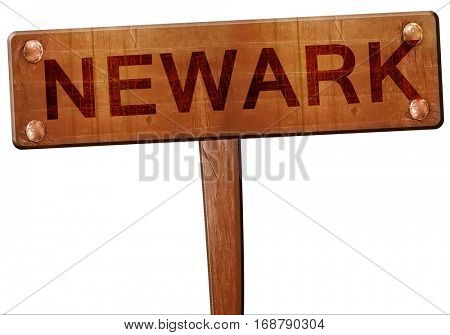newark road sign, 3D rendering