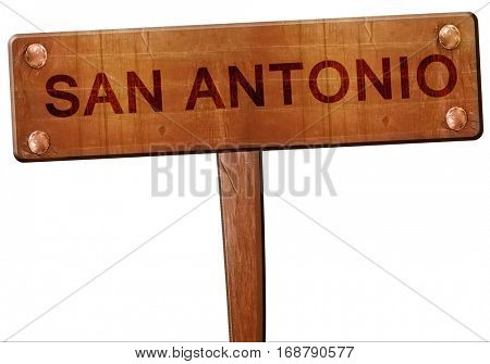 san antonio road sign, 3D rendering