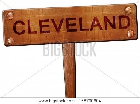 cleveland road sign, 3D rendering