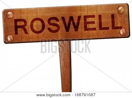 roswell road sign, 3D rendering