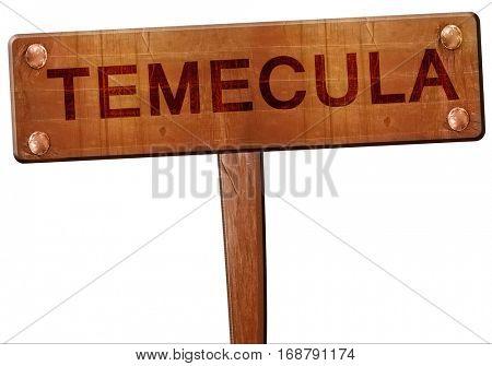 temecula road sign, 3D rendering