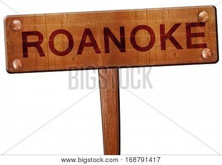 roanoke road sign, 3D rendering
