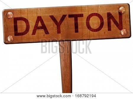 dayton road sign, 3D rendering