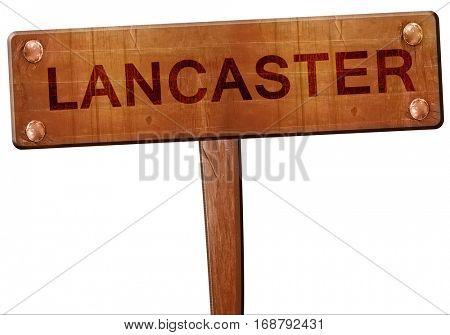 lancaster road sign, 3D rendering