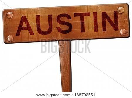 austin road sign, 3D rendering