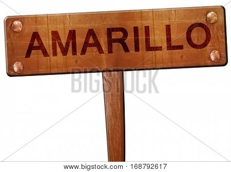 amarillo road sign, 3D rendering