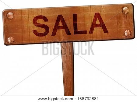 Sala road sign, 3D rendering