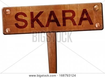 Skara road sign, 3D rendering