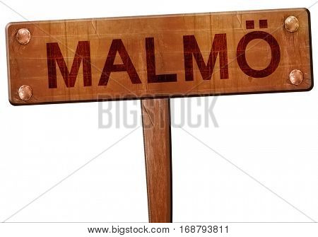 Malmo road sign, 3D rendering