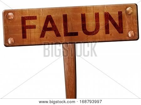 Falun road sign, 3D rendering