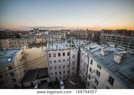 view from the roof in St. Petersburg