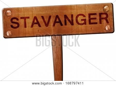 Stavanger road sign, 3D rendering
