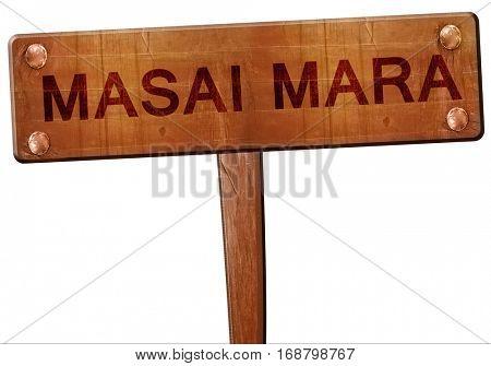 Masai mara road sign, 3D rendering