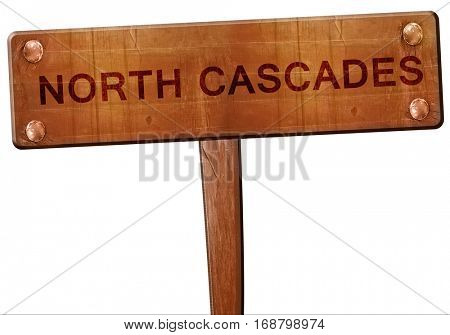 North cascades road sign, 3D rendering