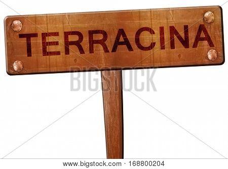 Terracina road sign, 3D rendering
