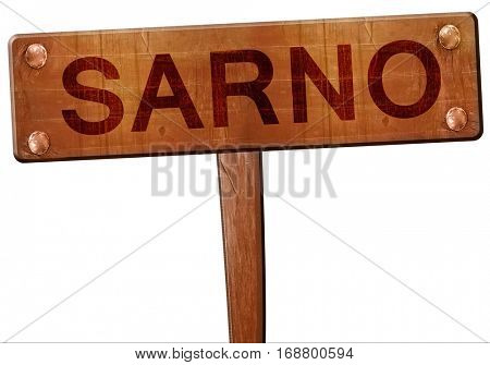 Sarno road sign, 3D rendering