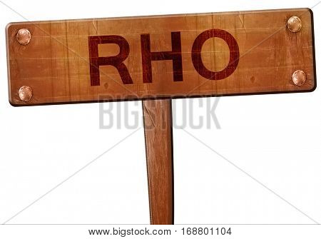 Rho road sign, 3D rendering