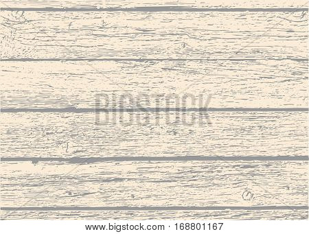 Old wooden planks texture for your design. Shabby background. Vector natural materials.