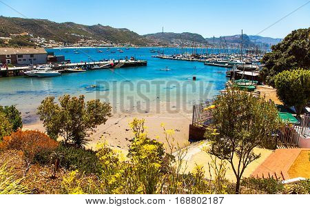 View of the harbor of St. James South Africa