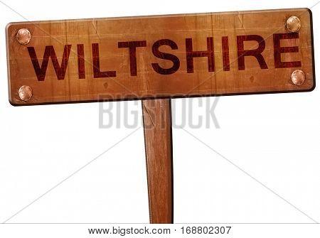 Wiltshire road sign, 3D rendering