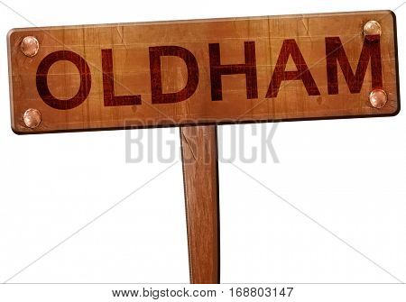 Oldham road sign, 3D rendering