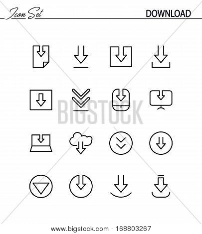 Download flat icon set. Collection of high quality outline symbols for web design, mobile app. Download vector thin line icons or logo.