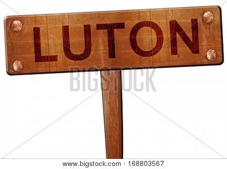 Luton road sign, 3D rendering