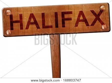 Halifax road sign, 3D rendering