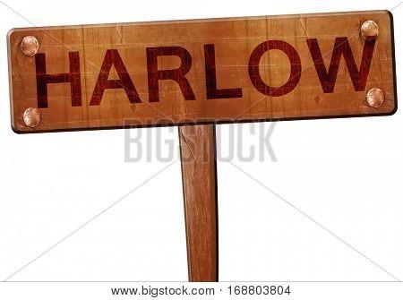 Harlow road sign, 3D rendering