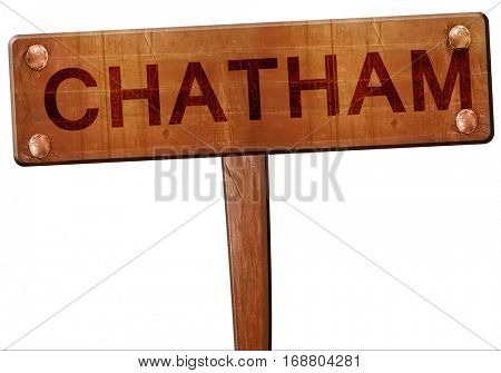 Chatham road sign, 3D rendering